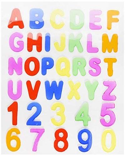 Abc's & 123's Gel Clings - 36 Piece Window Gel Clings Toy