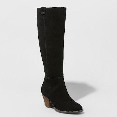 Universal Thread Sara Heeled Leather Boots