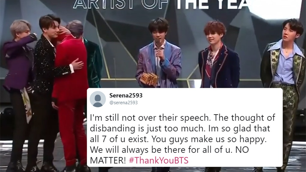 The Video Of BTS' MAMA Acceptance Speech Emotionally Reveals