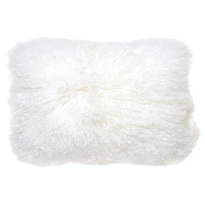 Mongolian Lamb Hair Lumbar Throw Pillow