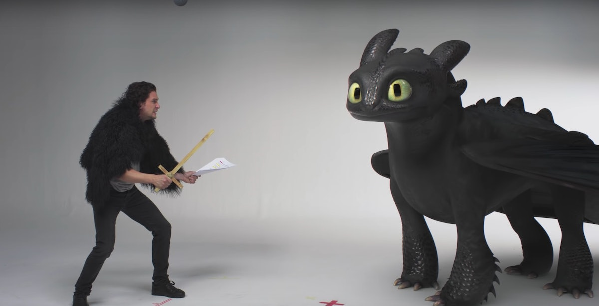 Your Heart Can't Handle Kit Harington Auditioning For 'How To Train Your Dragon 3'