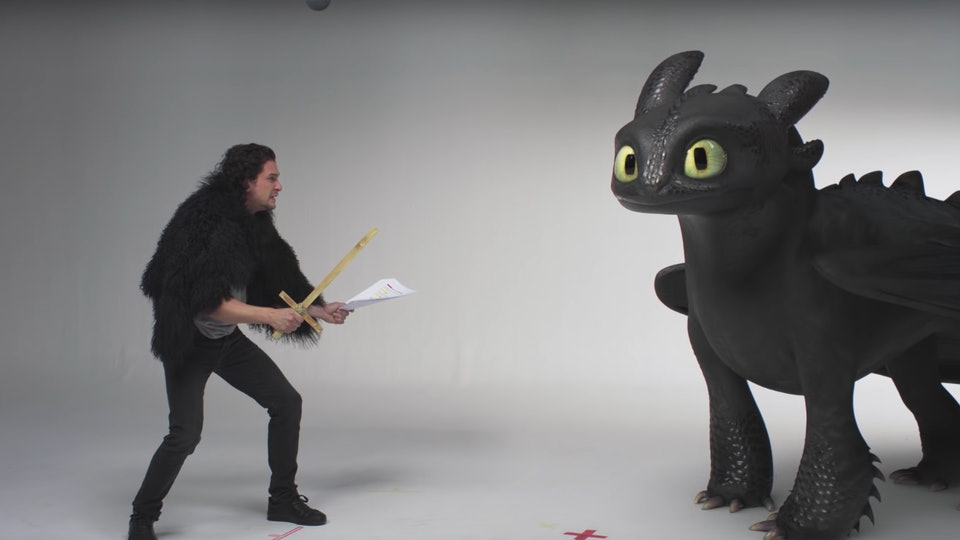 Kit Harington's Audition For 'How to Train Your Dragon' With