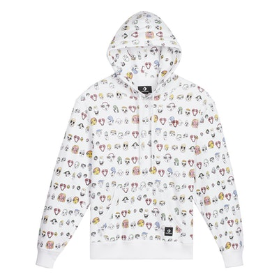 Faces Relaxed Fit Pullover Hoodie