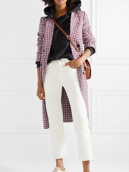 Checked Cotton-Blend Coat