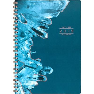 "2019 Planner 8.5""x 6.25"" Blue Crystals - Cambridge"
