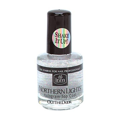 INM Northern Lights Silver Hologram Top Coat