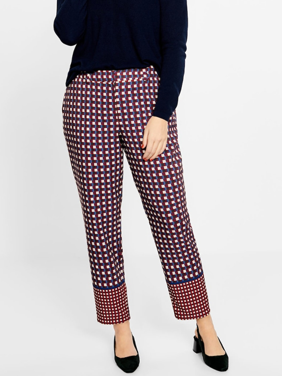 Flowy Checked Trousers