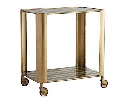 Celerie Kemble Tinsley Bar Cart, Antiqued Brass