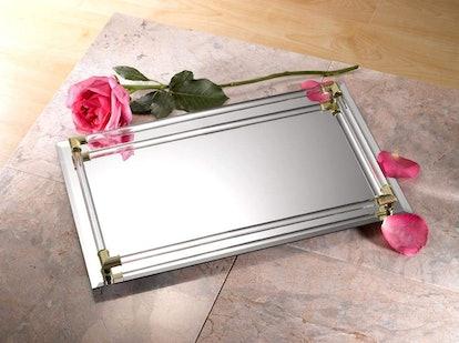 Crystal Mirror Vanity Tray