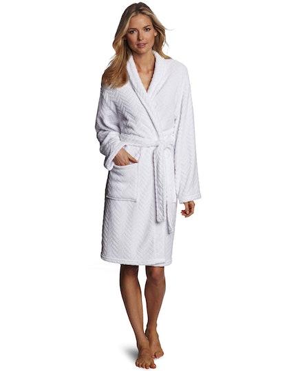Seven Apparel Herringbone Plush Robe