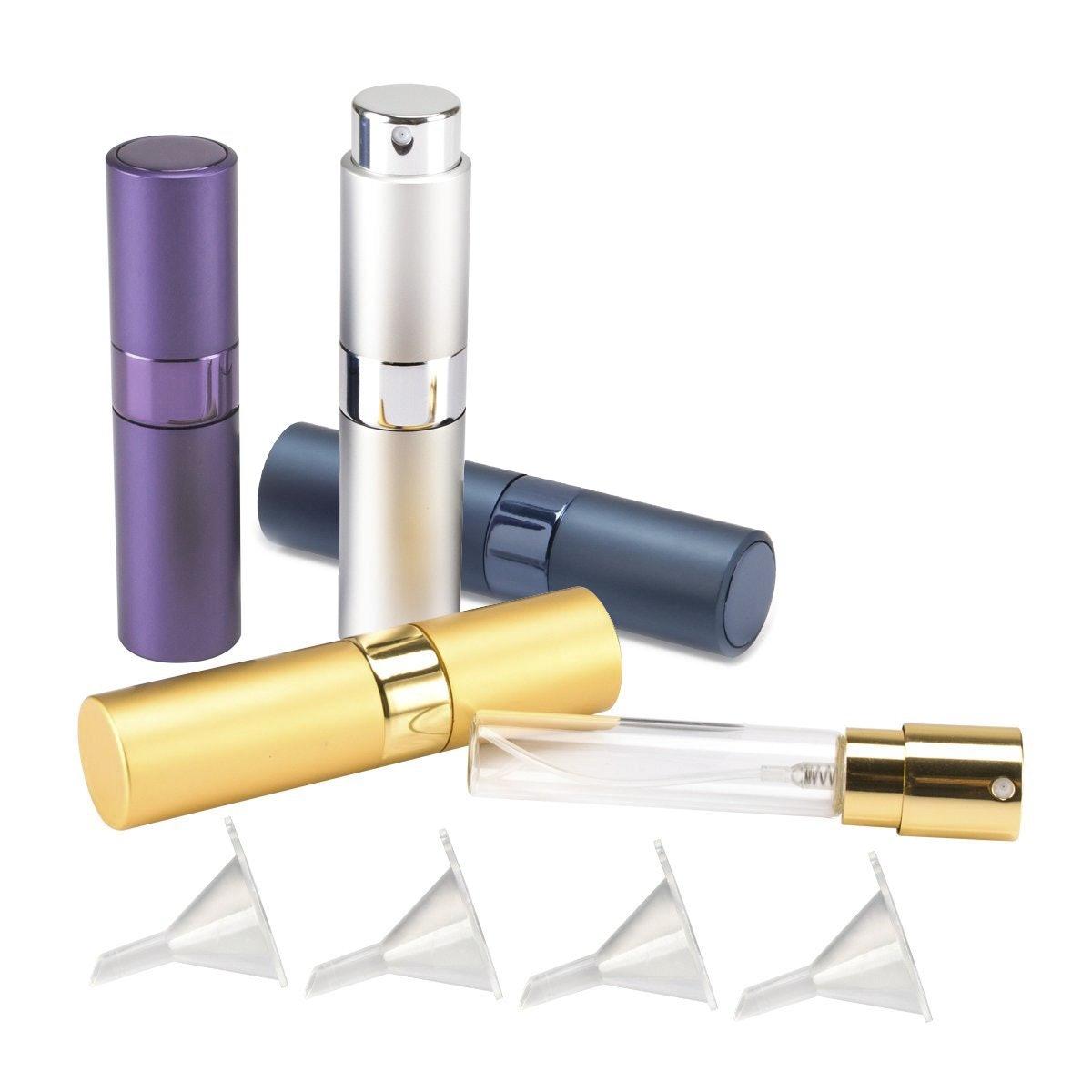 Madholly Twist-Up Perfume Spray Bottles (Set of 4)