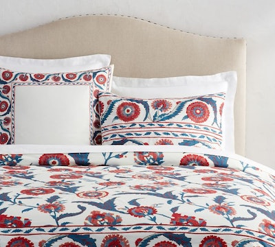 Anu Suzani Embroidered Duvet Cover, Full/Queen