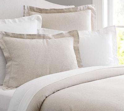 Belgian Flax Linen Duvet Cover, Natural, Full/Queen