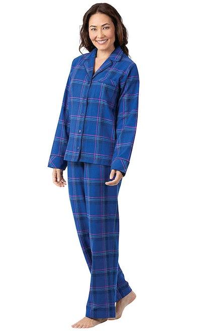 PajamaGram Women's Plaid Flannel Pajamas