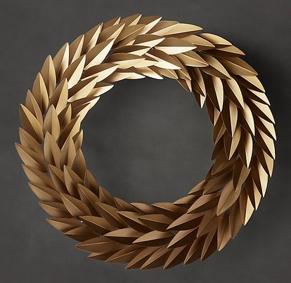"""Laurel Leaf Wreath - Brass, 36"""""""