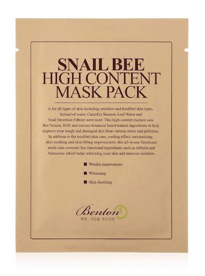 BENTON Snail Bee Mask Pack (10 Pack)