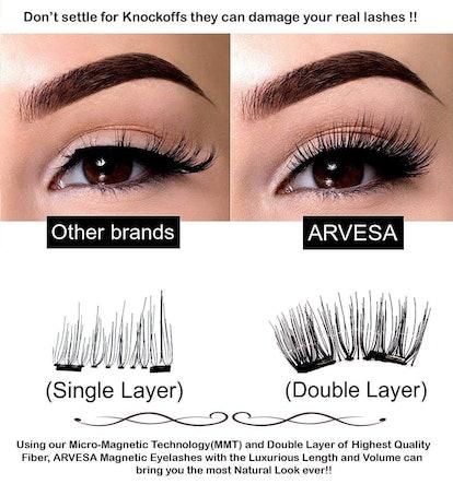 ARVESA Magnetic Eyelashes Set (8 Pieces)