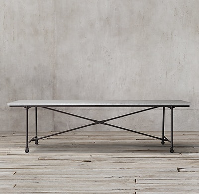 Flatiron Marble Rectangular Dining Table