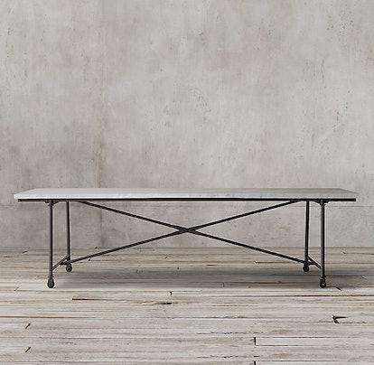 Flatiron Marble Rectangular Dining Table