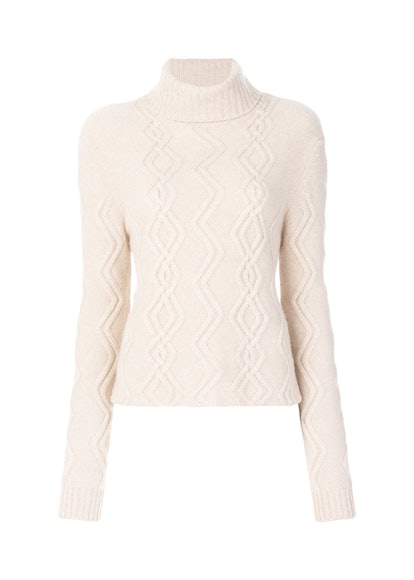 Cashmere in Love Tess Cable Knit Cropped Jumper