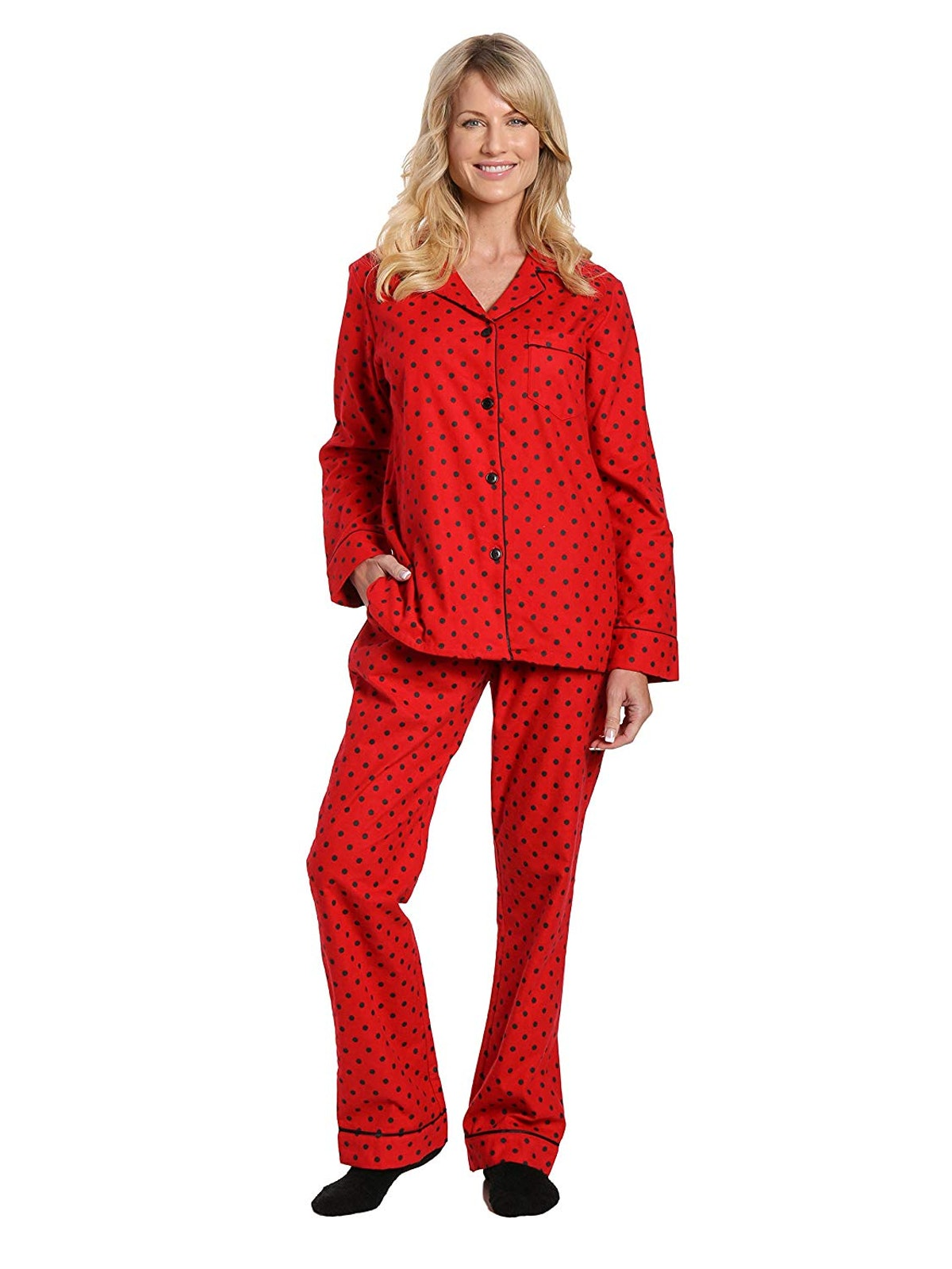 Noble Mount Women's Cotton Flannel Pajama Sleepwear Set