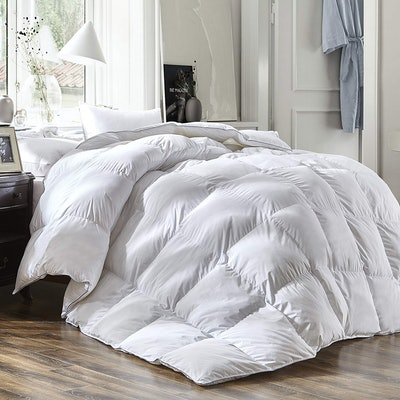 Three Geese Luxury White Goose Down Feather Comforter