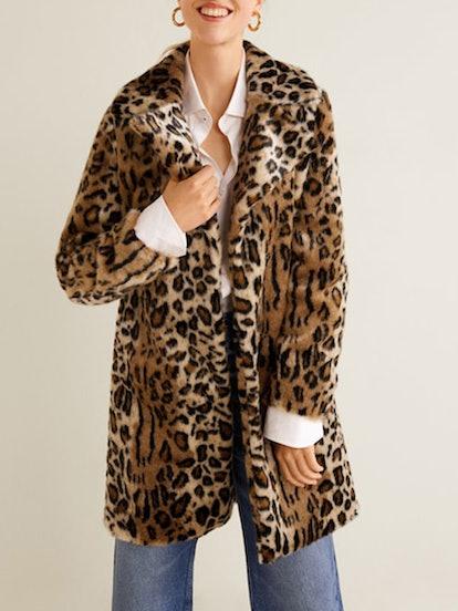 Leopard Faux-Fur Coat