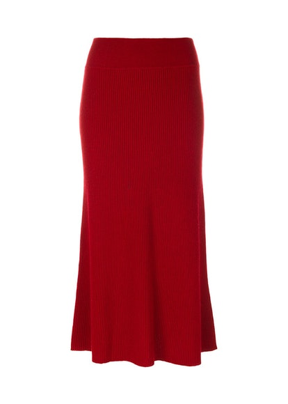 Cashmere in Love Viva Ribbed Knit Skirt