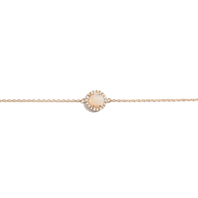 AUrate Halo Diamond Opal Bracelet