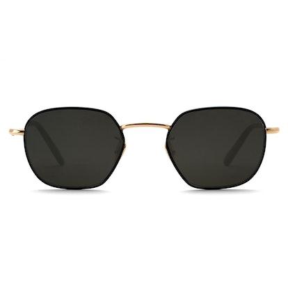 Ward Tortuga + Matte Black to 24K Titanium Sunglasses