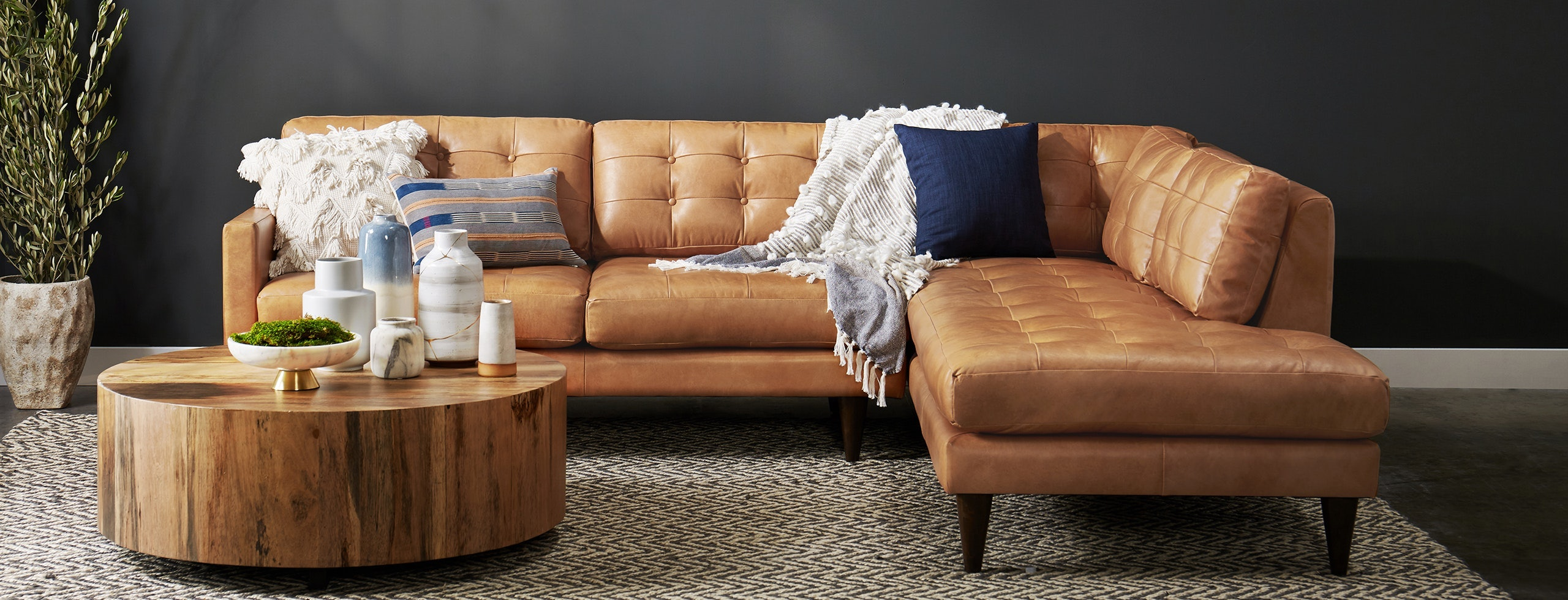 Picture of: Joybird S Holiday Sale Has A Huge Leather Sectional Other Expensive Pieces For 25 Percent Off