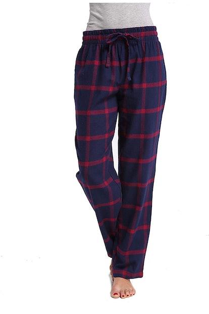 CYZ Collection Women's Cotton Flannel Plaid Pajama Pants