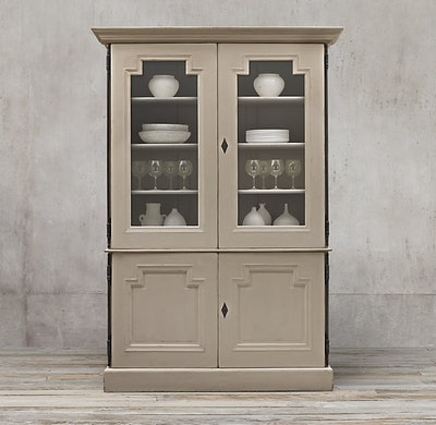 Montpellier Glass Double-Door Sideboard & Hutch