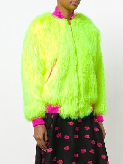 Faux-Fur Bomber Jacket