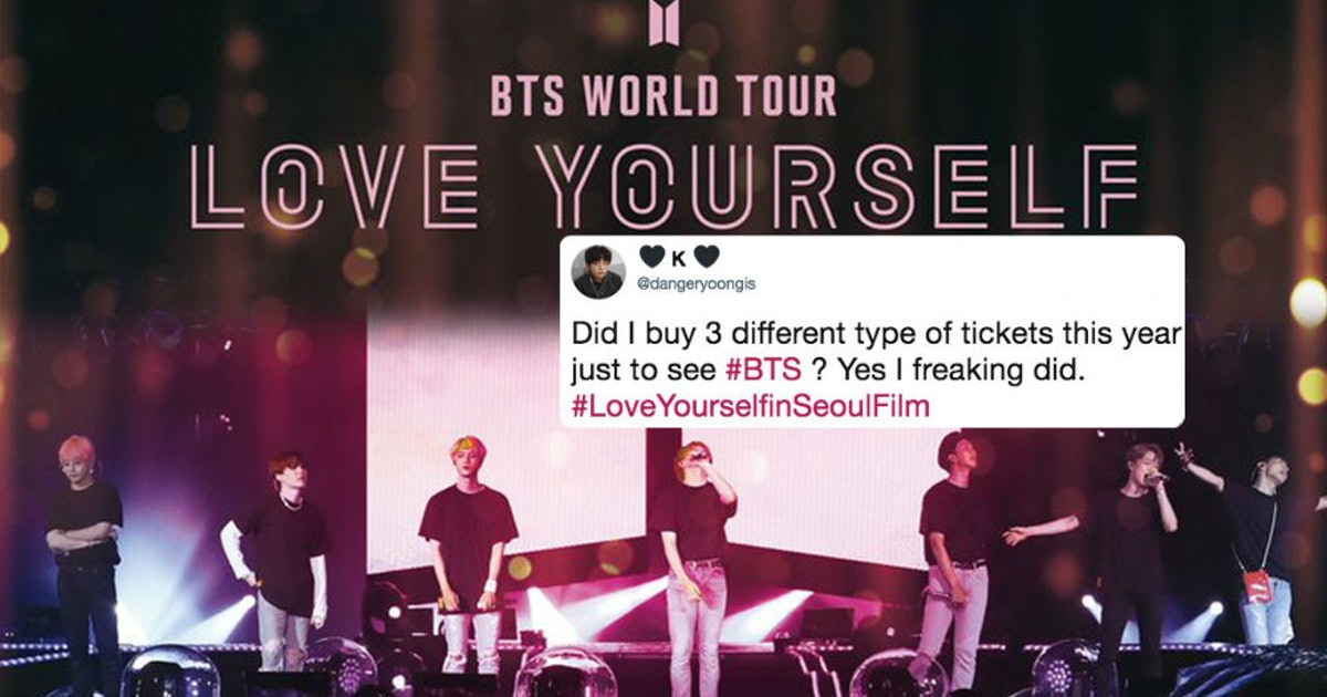 Here S How To Get Tickets To The Bts Love Yourself Concert Movie