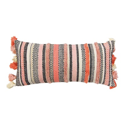Pink Moroccan Tasseled Pillow
