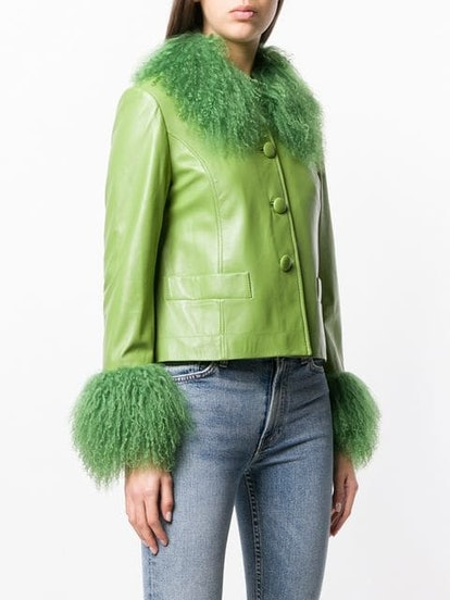 Lamb Fur Trim Jacket