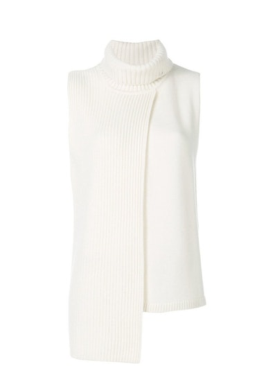 Cashmere in Love Tania Turtleneck Ribbed Vest