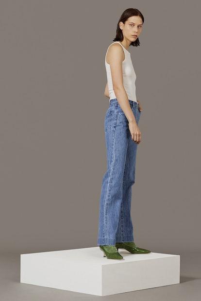 Zip-Through Jean