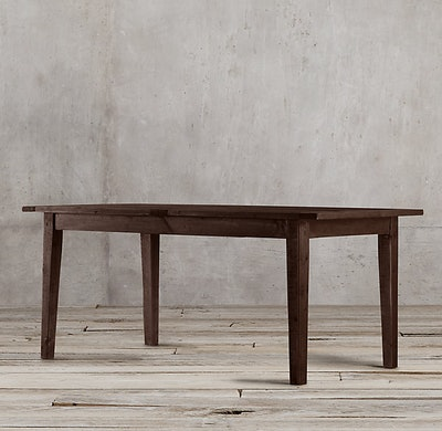 1900s Boulangerie Rectangular Extension Dining Table - Salvaged Brown