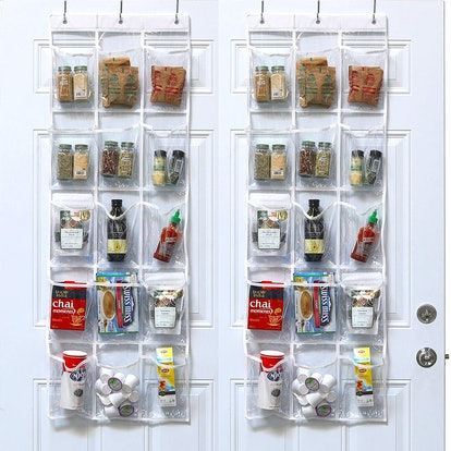 SimpleHouseware Clear Over The Door Hanging Organizer (2 Pack)