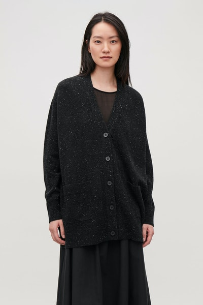 Speckled Oversized Cardigan
