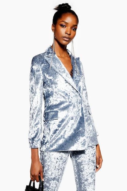 PETITE Bonded Velvet Jacket