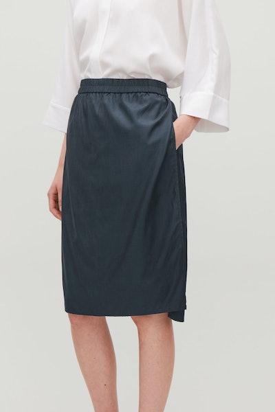 Draped Double-Layered Skirt