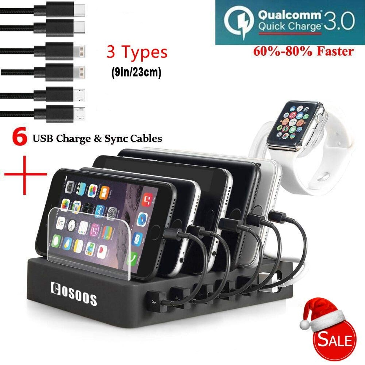 Simicore Smart Charging Station Dock And Organizer