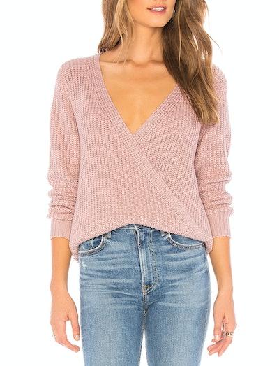 Carmen Wrap Front Sweater