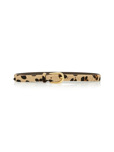 Animal-Print Leather Belt