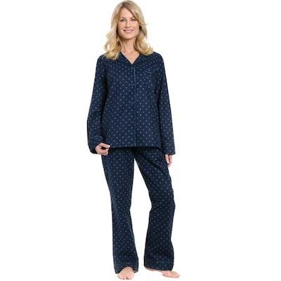 Noble Mount Womens Premium 100% Cotton Flannel Pajama Sleepwear Set