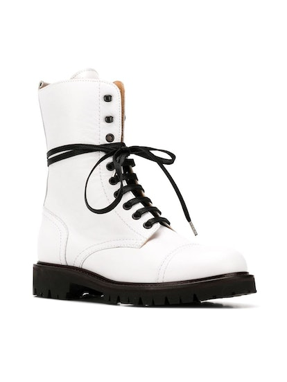 Lace-Up Military Boots