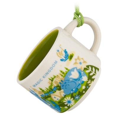 Magic Kingdom Starbucks YOU ARE HERE Mug Ornament
